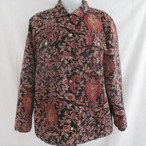 Nexx Jackets & Blazers - Nexx Floral Silk Blend Quilted Jacket Size L