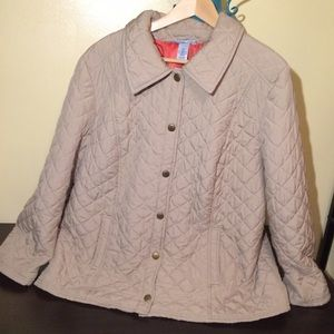 Catherines Jackets & Blazers - Catherines Soft & Puffy Quilted Tan Coat