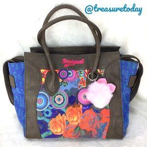Desigual Handbags - Desigual Colorful Phantom / Bat Wing Tote Handbag