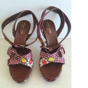 Sergio Rossi Shoes - Sergio Rossi Satin  Strappy Sandals Heels