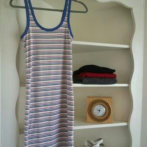 New Zara sporty striped tank dress