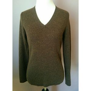 Brown Old Navy V-Neck Sweater