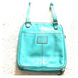 Fossil Handbags - 🗝 Fossil turquoise leather crossbody messenger