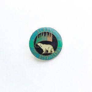 Vintage Accessories - Vintage Alaska Enamel Pin