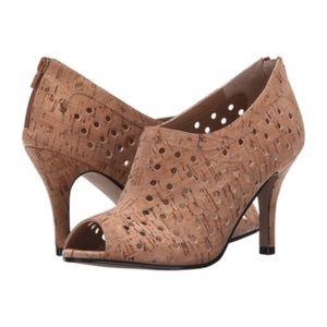 Vaneli Shoes - Vaneli natural cork Pandora open toe booties