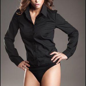 Victoria's Secret Swim - Victoria's Secret Button Down Body Suit NWOT