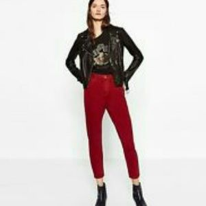 Zara Denim - ZARA new cranberry high waistED mom jeans