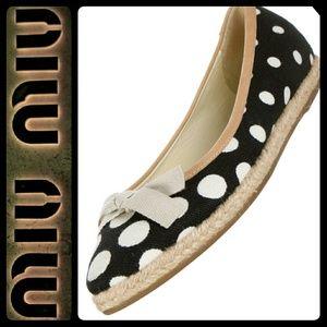 Miu Miu Shoes - Miu Miu Italy Espadrille Flats