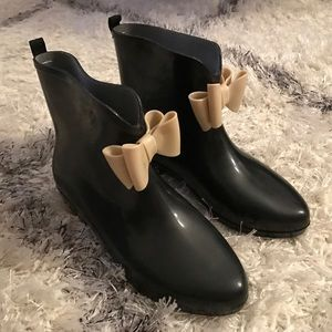 Capelli of New York Shoes - Women's Bow Rain Boot 8