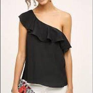 NWT! Anthropologie Silk One Shoulder Blouse