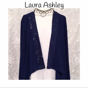 Laura Ashley Sweaters - Laura Ashley cardigan style cover up with sequins