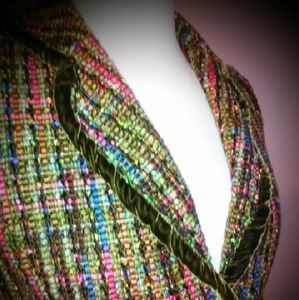 Cynthia Steffe Jackets & Blazers - Cynthia Steffe  Tweed and Velvet Jacket Sz. L