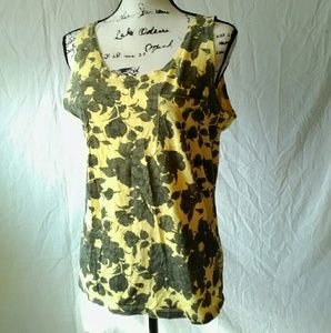 Saturdays Surf NYC Tops - Saturday's Surf NYC Yellow Floral Tank Top M