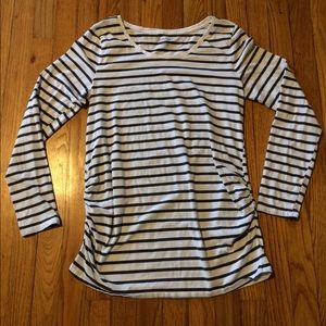 BumpStart Tops - Bump Start (motherhood) striped long sleeve shirt