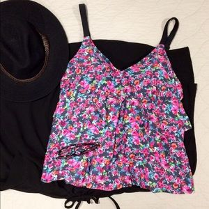 Pure Energy Other - Floral Tank Only Swimsuit Top 18W