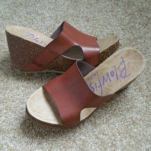 Blowfish Shoes - ▪Blowfish Malibu Whiskey Brown Strap Wedges▪