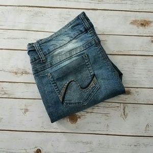 Grane Denim - {Grane} Selema Light Wash Jeans Size 13