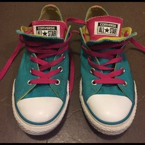 Converse Shoes - Converse Teal Double Tongue