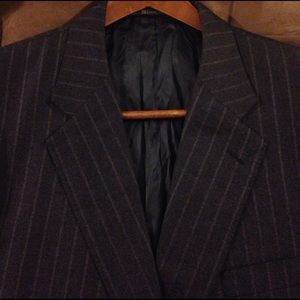 Hickey Freeman Other - Hickey Freeman Blue Pinstripe Suit Coat 46L Long