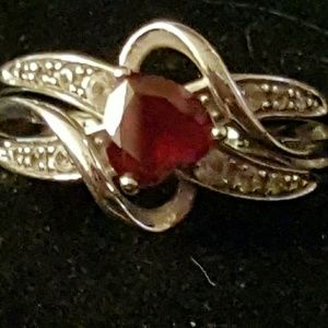 Kay Jewelers Jewelry - ❣SPRING SALE 🐣 RUBY HEART RING💗