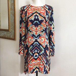 WAYF Geometric Print Shift Dress