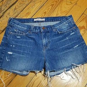 J Brand Pants - J Brand Cut-Off Shorts; Denim