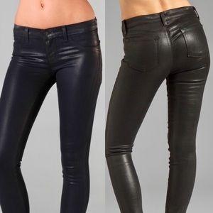 J Brand Denim - J Brand Super Skinny Wax Coat Black Jeans