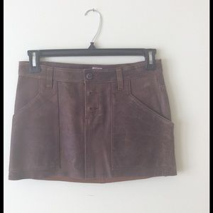 NWOT Joie Suede Mini Skirt