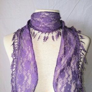 2for1 LAVENDER Lace Scarf