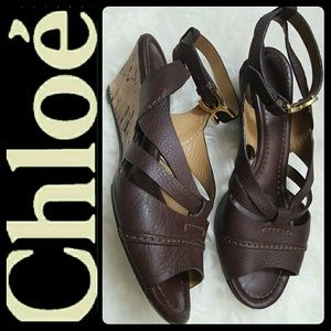 Chloe Shoes - Chloe Italy Leather Sandal Wedge