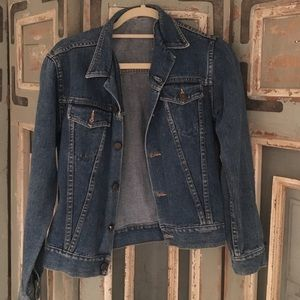 Authentic Original Vintage Style Jackets & Blazers - Vintage Form fitting Truck Jean jacket