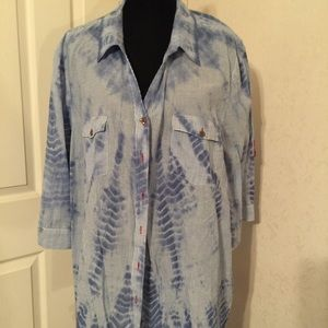 Catherines Tops - Catherine's chambray top size 3X