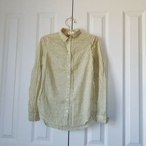 Old Navy Floral Long Sleeve Button Down Blouse