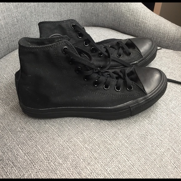 Converse Shoes   All Black High Top
