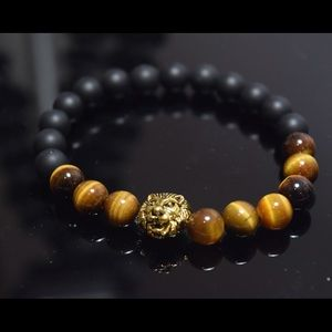 Other - Men's Bracelet Natural Tiger Eye