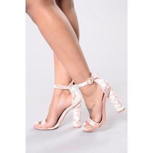 Fashion Nova Bad Karma Heels (Blush)