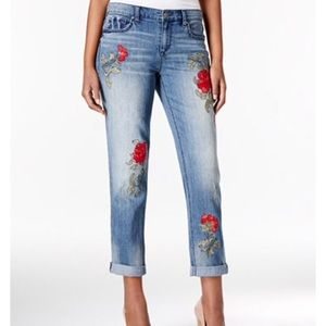 American Vintage Denim - 🌹TODAY ONLY 4/23 $55 Rose Embroidered Jeans Sz 16