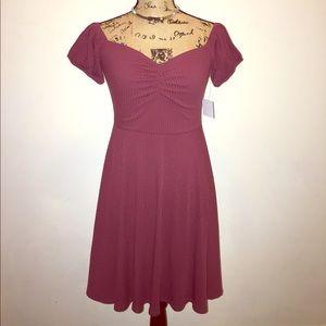 bp Dresses & Skirts - BP Off The Shoulder Rib Knit Dress, Burgundy, NWT
