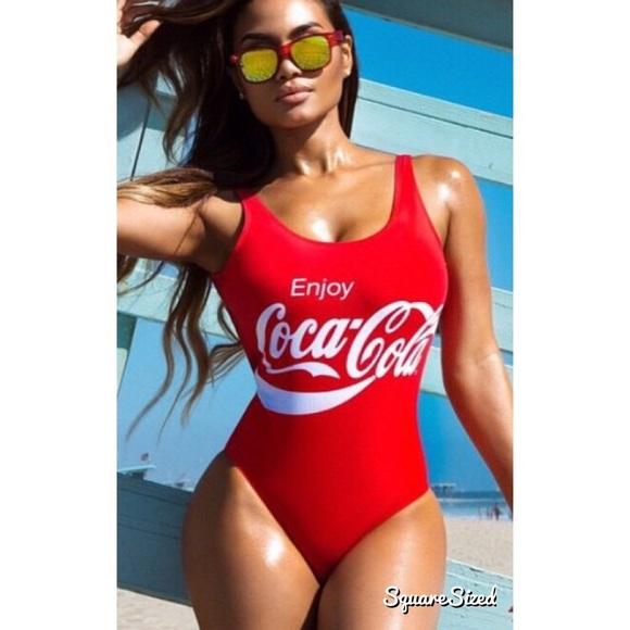9ebc8b5127ff9 🍒Coca-Cola swimsuit  bodysuit🍒. M 58d73bf37f0a057b0703320a