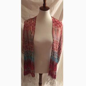 Boho/Hippie Flowy Cover Up Wrap Shawl one size