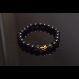 Other - Men's Bracelet Gold Skull