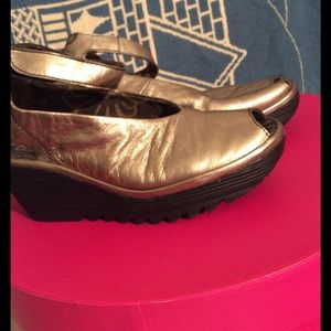 Fly London Shoes - Fly London yay a gold sandal