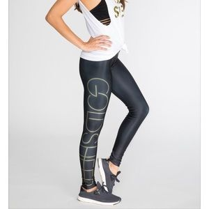 Goldsheep Pants - Goldsheep logo black leggings