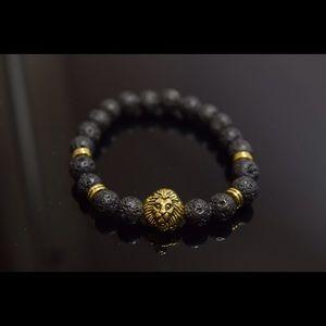 Other - Men's Bracelet Gold Lion Head Charm