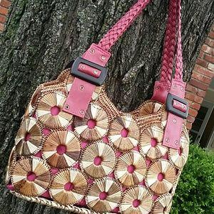 Handbags - Natural straw shoulder bags