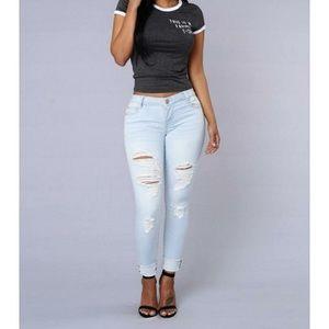 Fashion Nova Denim - Fashion Nova enlightenment jeans size 1/24