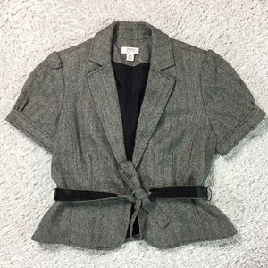 LOFT Jackets & Blazers - LOFT short sleeve blazer w/ sequin belt 14