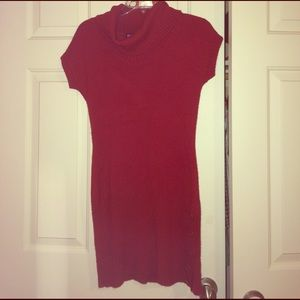 Say What? Dresses & Skirts - Red short sleeved sweater dress