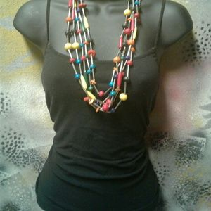 Vintage 5 strand fun, colorful & funky necklace
