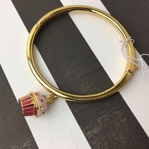 kate spade Jewelry - Kate Spade Pink Cupcake Hinge Bangle Bracelet NEW